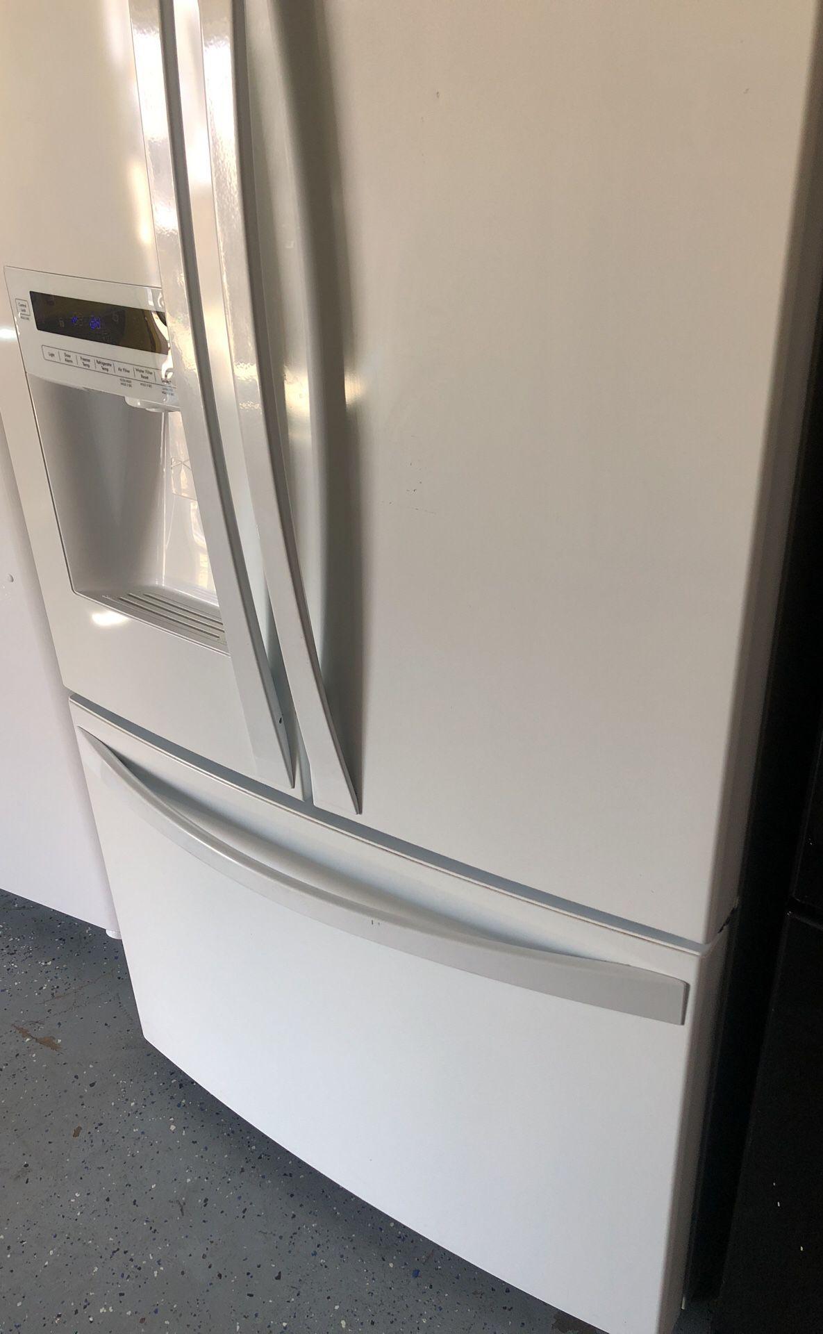 Kenmore white french door refrigerator bottom freezer