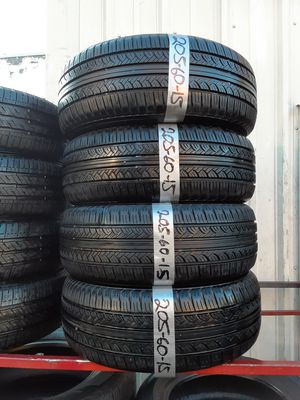 Photo Semi new tires set 205 60 15