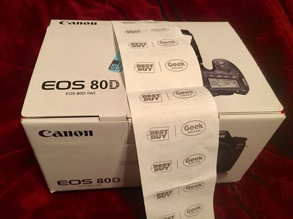 NEW- Canon 80D DSLR 24MP -NEW in Box with Best Buy Receipt- Finance or  TRADE options READ!- SAVE$$$ for Sale in Stafford, VA - OfferUp