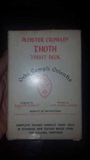 Original Alister Crowley thoth Tarot deck for Sale in Washington, DC