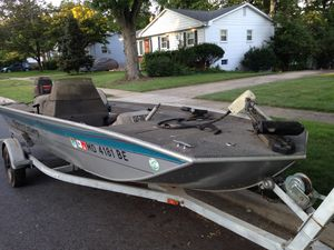 Reduced for a quick sale !!!! Bass motor boat for sale for Sale in Silver Spring, MD