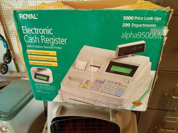 Royal alpha 9500 cash register for Sale in Austin, TX - OfferUp