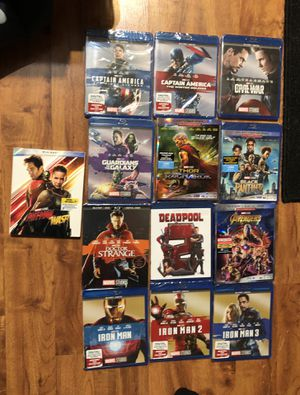 Marvel Blu-ray movies !! Brand new !! for Sale in Houston, TX