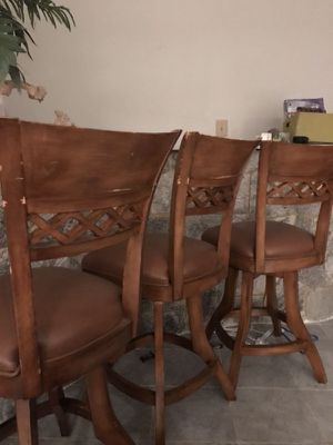 3 Bar height swivel chairs for Sale in Woodbridge, VA