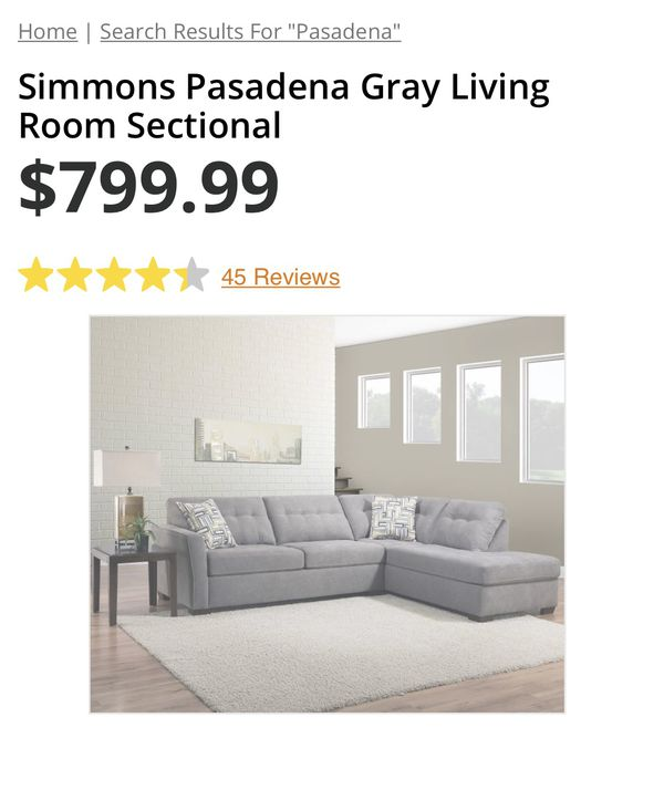Pasadena Gray Fabric Sectional
