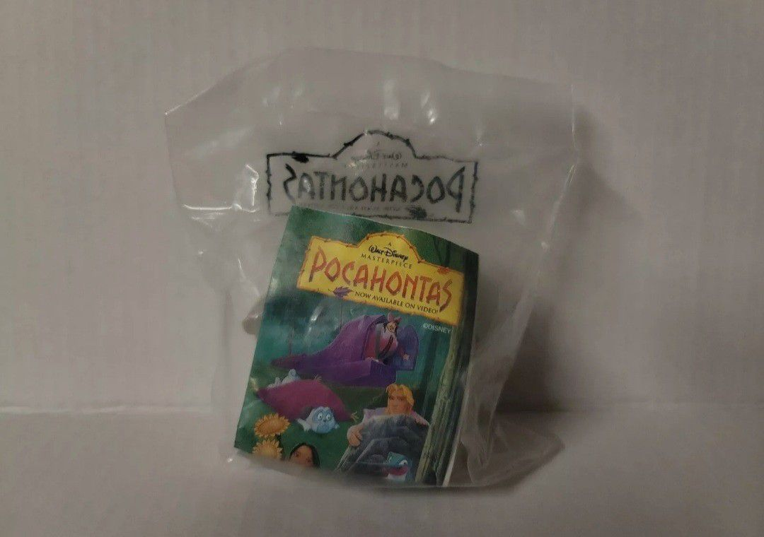 Lot Of 4 Disney Pocahontas Burger King 90s Toys Brand New!