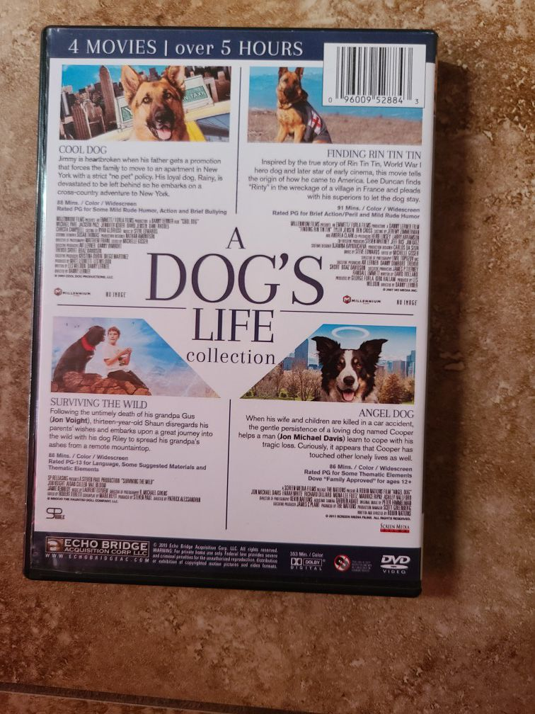 A dog's life Collection 4 movies in one disc