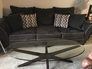 Dark Brown And Beige Living Room Set For Sale In Fayetteville NC