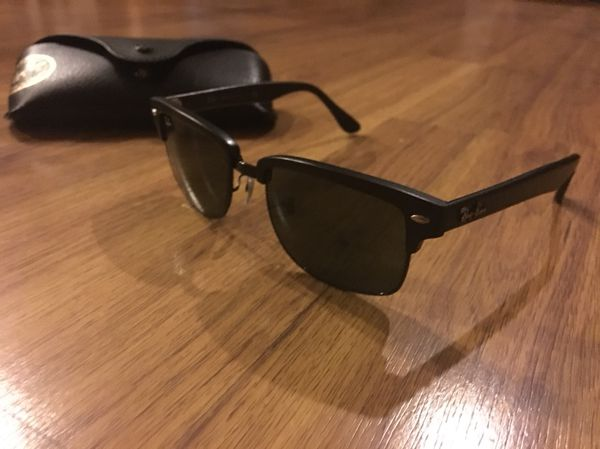 3684d2d3a0 Ray Ban RB4190 877 Matte Black Squared Clubmaster Sunglasses for Sale in  San Diego