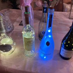 Lighted Wine Bottles. Makes A Great Gift. Batteries Included Thumbnail