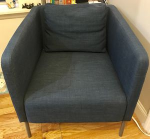 Ikea Dark Blue Accent Chair For In New York Ny