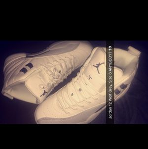 Jordan 12 wolf grey size 6 for Sale in Gambrills, MD