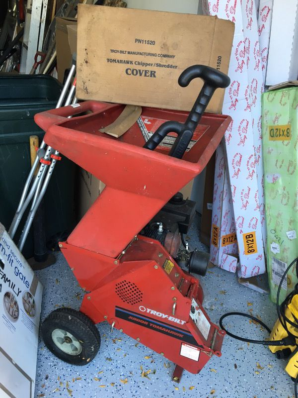 Chipper Shredder Troy Bilt Junior Tomahawk For