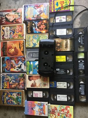 Great selection of classic VHS Tapes in great condition INCLUDING VHS video REWINDER for Sale in Raleigh, NC