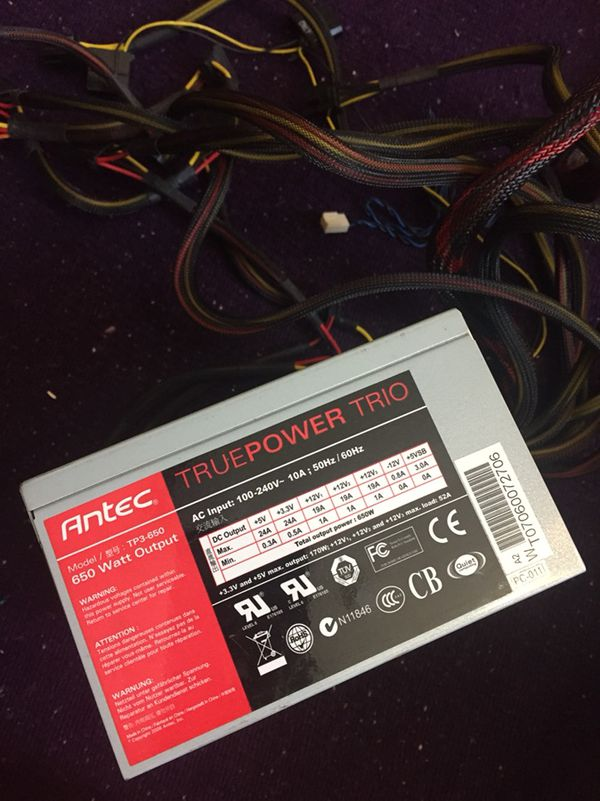 Antec 650W Pc power supply for Sale in Fremont, CA - OfferUp