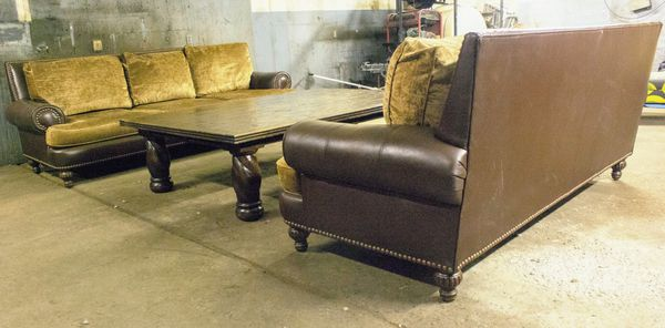 Custom Designer Leather and Chenille Sofas for Sale in Phoenix, AZ - OfferUp