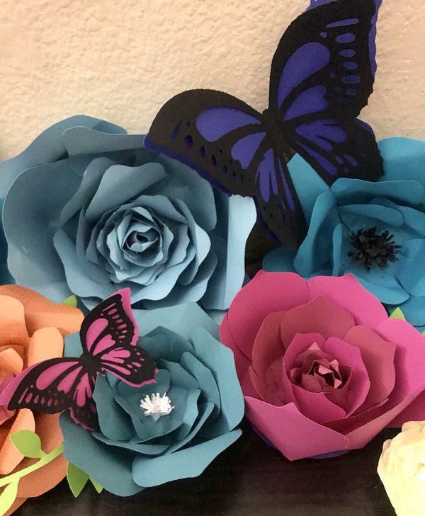 Cardstock paper flowers arts crafts in quartz hill ca offerup mightylinksfo