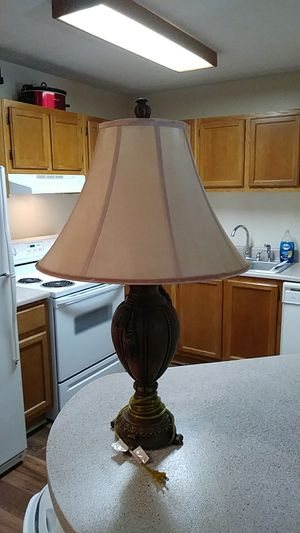 Really nice lamp.. Brownish and a tan lamp shade. Dont have enough room for Sale in Kennesaw, GA