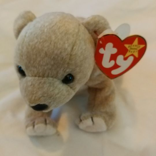 49b697ececa RARE ALMOND Bear TY Beanie Baby with errors for Sale in Rockmart