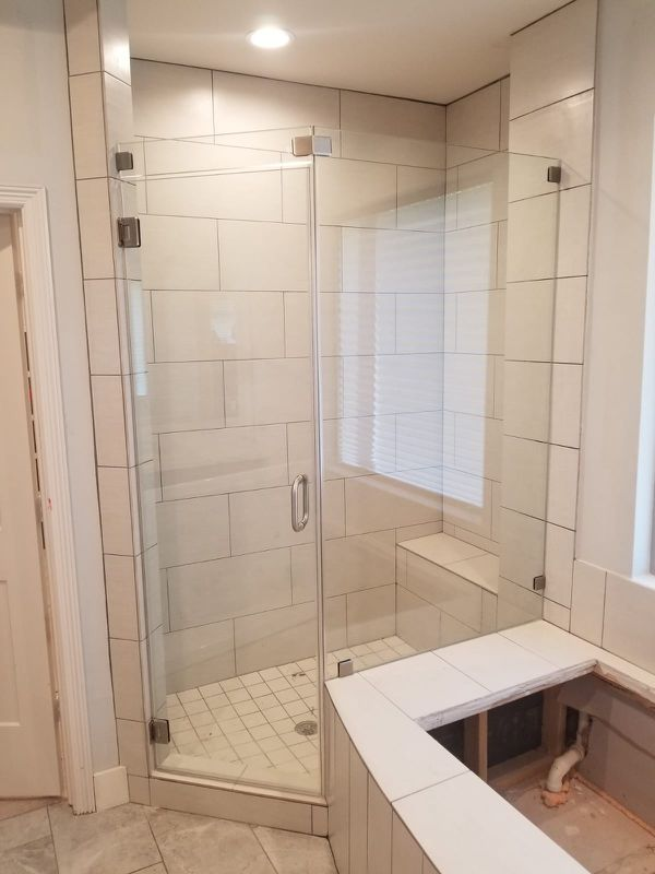 We specialize in interior glass work * Customs Shower Enclosures ...