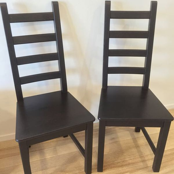 Moving Sale Ikea Kaustby Dining Chairs High Back Espresso For Sale