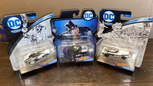 Photo Lot of 3 Hot Wheels DC Character cars. Must have!