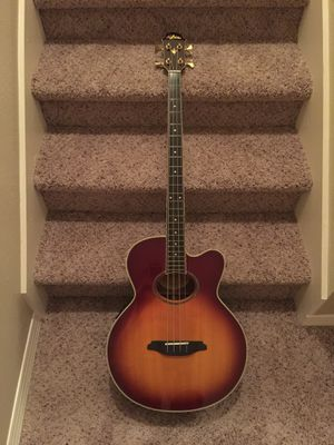 Aria Elecord Acoustic Electric Bass Guitar with Hard Case FEB-02 for Sale in Orlando, FL