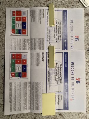 Sixers Vs Lakers Tickets Lebron James for Sale in Philadelphia, PA