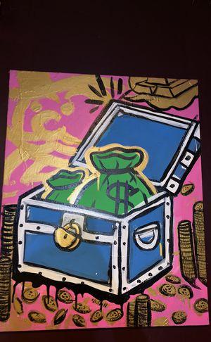 Treasure box canvas paining for Sale in Upper Marlboro, MD