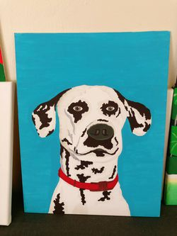 Lovely Dog On Canvas Panel . Brand New  Thumbnail
