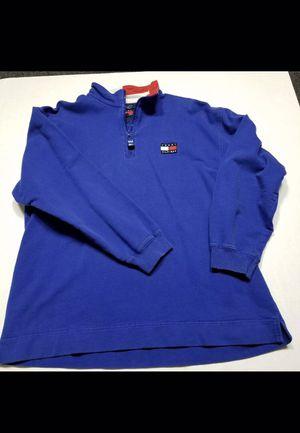 VTG Tommy Hilfiger Fleece Spell Out Color Block Quarter Zip Jacket Mens Medium A for Sale in Hyattsville, MD