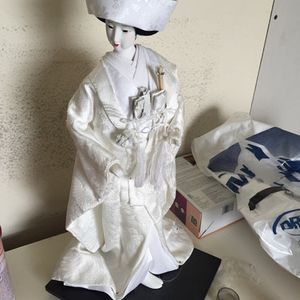 Large Geisha Japanese Gofun Doll Traditional Wedding Gown Kimono for Sale in Tampa, FL