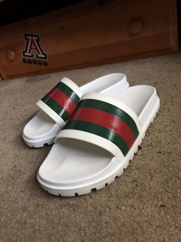 bc40191ad6c Gucci slides white size 11 for Sale in Chino Hills