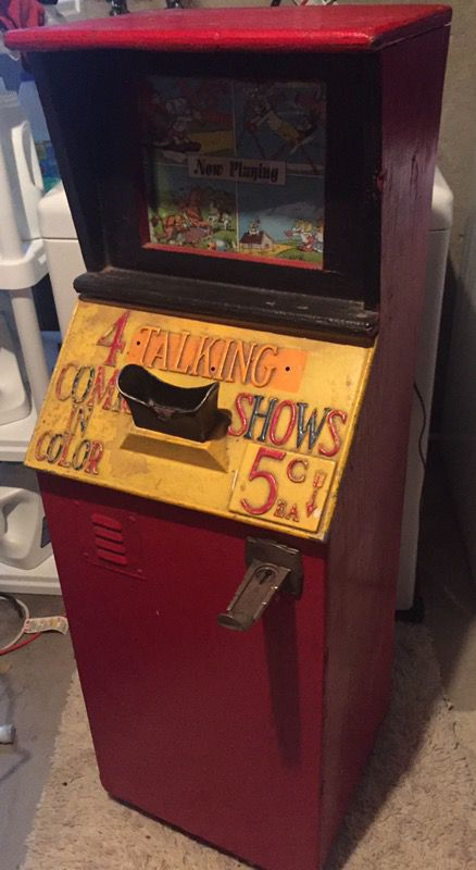 Antique coin-operated arcade cartoon film viewer peep show machine for Sale  in Rockford, MI - OfferUp