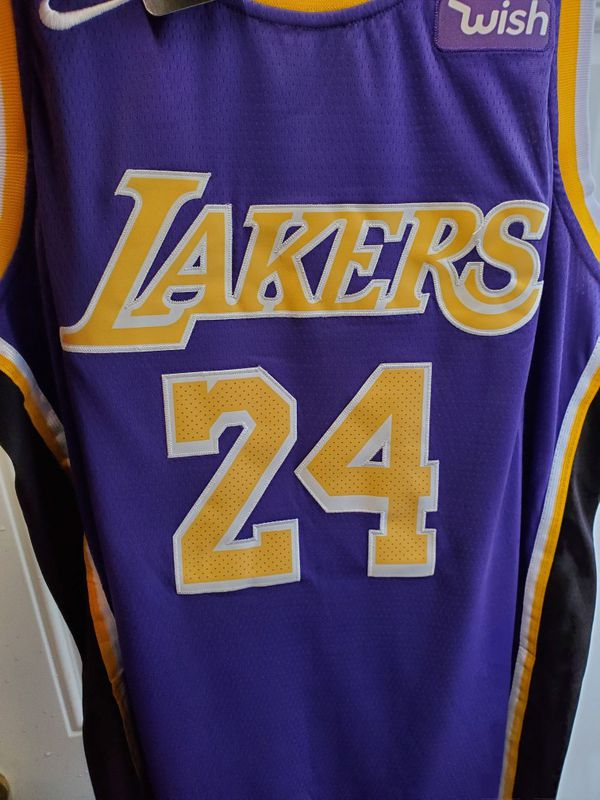 best service 366ec 540fd Kobe Bryant #24 Lakers Jersey (Purple with Black) for Sale in Colorado  Springs, CO - OfferUp