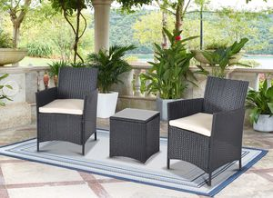 (3 Piece Set) Outdoor Patio Bistro Chair and Glass Table ~ Brand New ~ Garden Furniture for Sale in Port St. Lucie, FL
