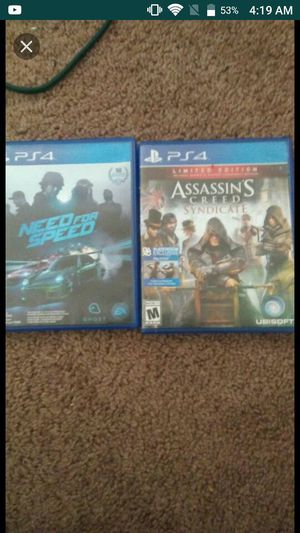 Assassin Creed sydicate and need for speed for Sale in Baltimore, MD