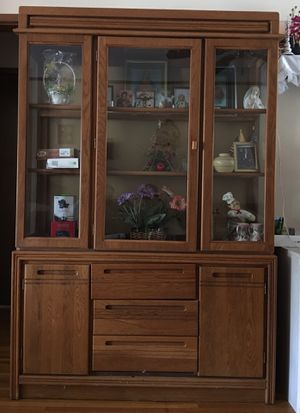 Glass Cabinet with 5 Drawers., used for sale  Wichita, KS