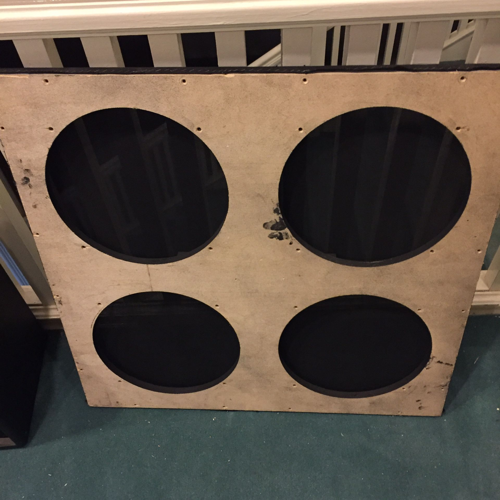 Peavey 6505 series 412 cab baffle / grille. New