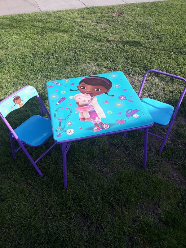 Doc Mcstuffins Folding Kid Table And Two Chairs For Sale In Downey Ca Offerup