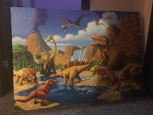 Jurassic park wall art with frame for Sale in Atlanta, GA