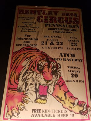 Old Circus Advertistment Poster for Sale in Seattle, WA