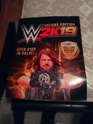 WWE 2K19 AJ STYLES DELUXE EDITION GAMER POSTER ,NOT SOLD ANYWHERE ,USED FOR PROMOTIONAL PURPOSE, EX. GAMESTOP..AS IS ,HARD TO GETWAITED 3Mts 30$$ for Sale in Bronx, NY