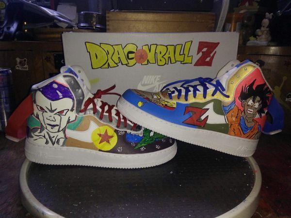 on sale 9e5a6 fee5b Dragon ball z custom Air Force ones hi
