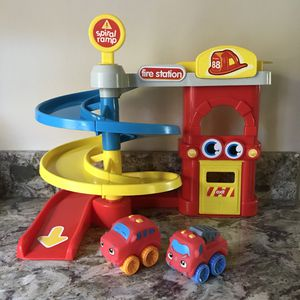 Fire Station Spiral Ramp Playset for Sale in Colchester, VT
