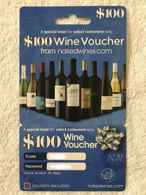 $100 Wine Voucher for Sale in Herndon, VA