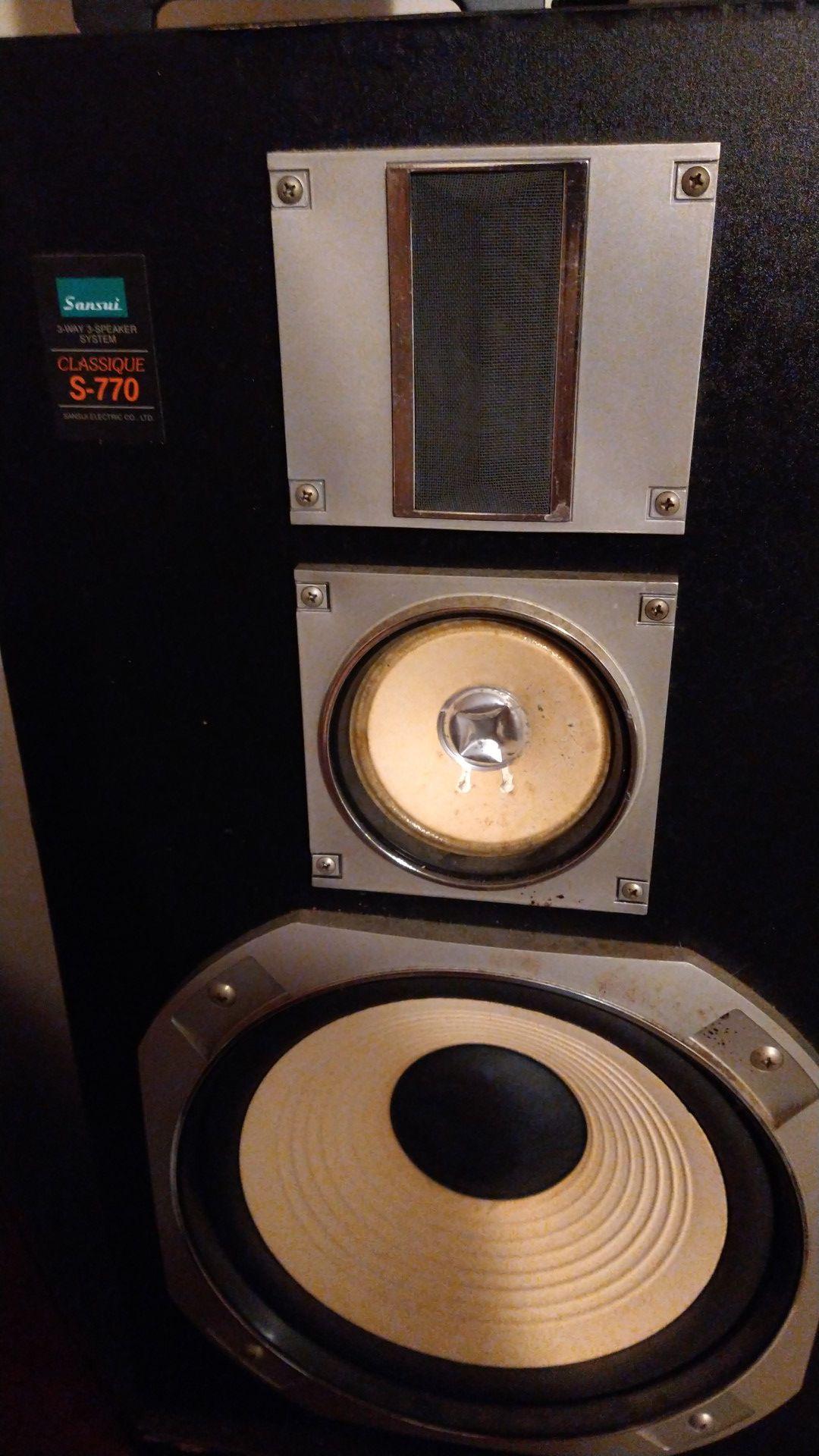 Sansui and acoustic response speakers vintage