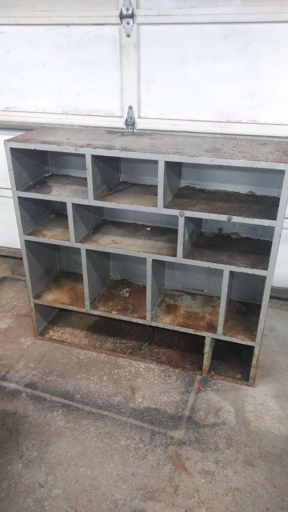 Steel storage unit shelf