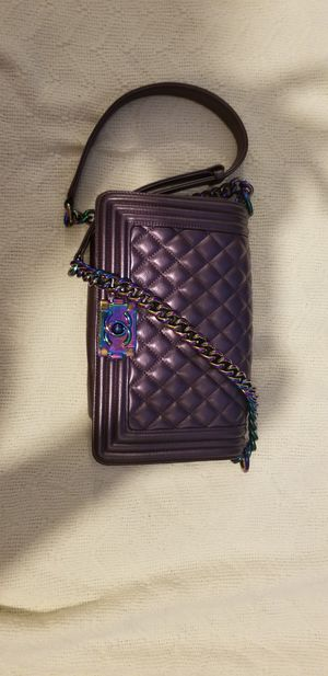 Chanel Boy Bag with Rainbow chain for Sale in Washington, DC