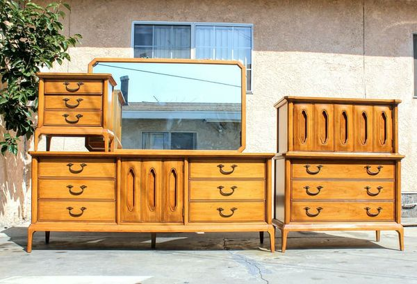 Mid Century Dresser Set For Sale In Bell Ca Offerup